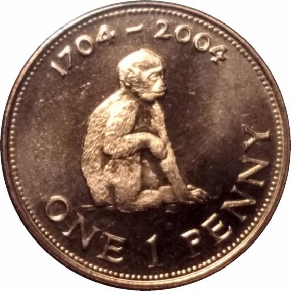 Moeda 1 pence - Gibraltar - 2004