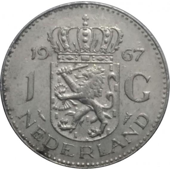 Moeda 1 gulden - Holanda - 1967