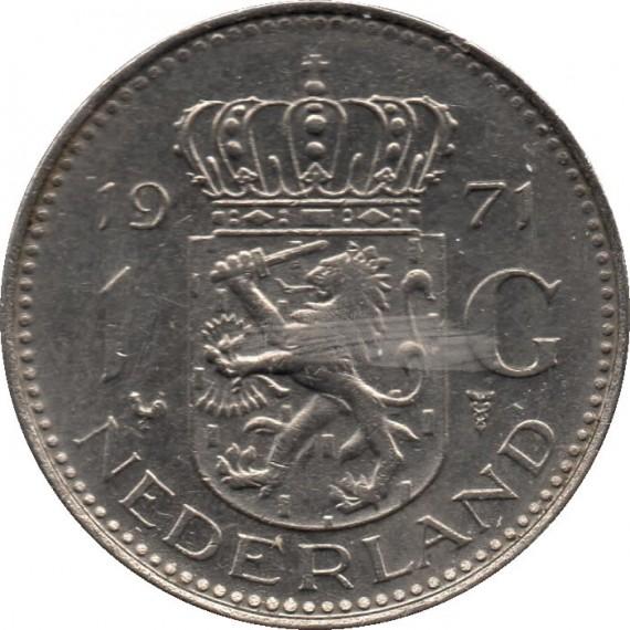 Moeda 1 gulden - Holanda - 1971