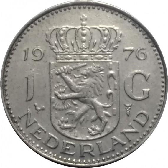 Moeda 1 gulden - Holanda - 1976