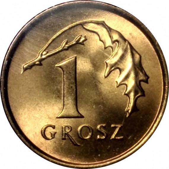 Moeda 1 groszy - Polonia - 1992