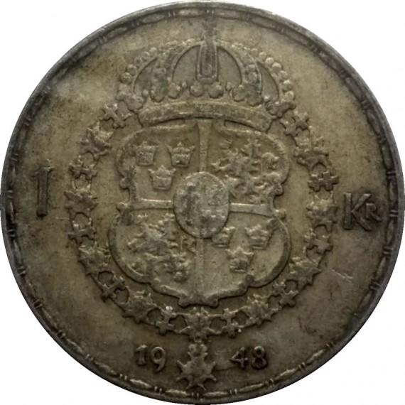 Moeda 1 Coroa - Suécia - 1948