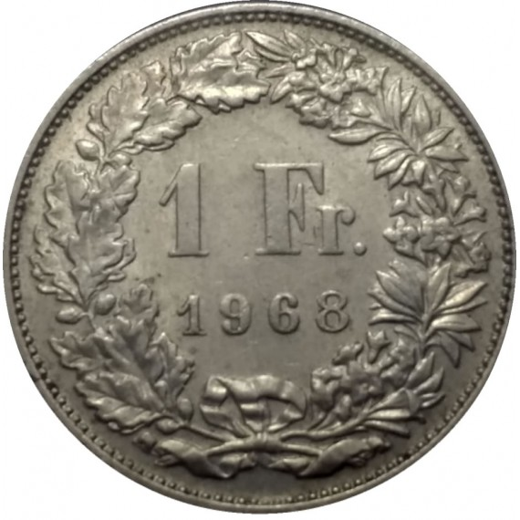 Moeda 1 franco - Suiça - 1968