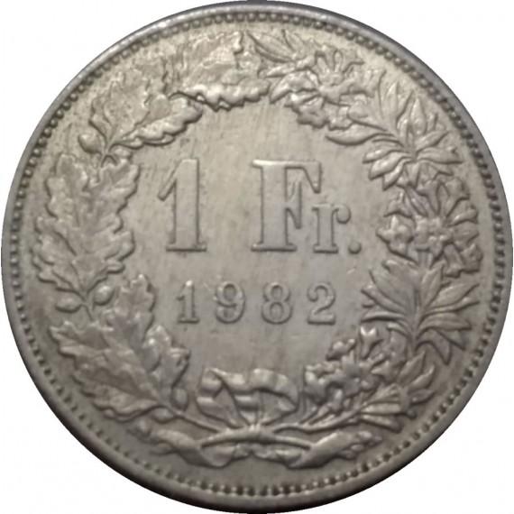 Moeda 1 franco - Suiça - 1982