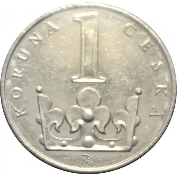 Moeda 1 coroa - Tchecoslovaquia - 1994