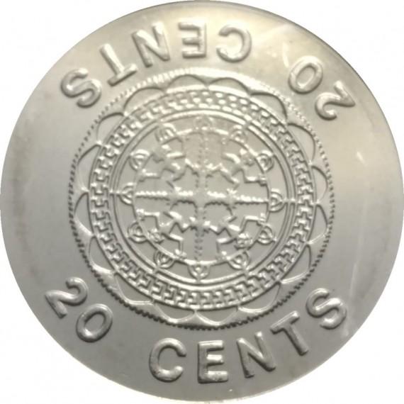 Moeda 20 centavo de dolar - Ilhas Salomão - 2005