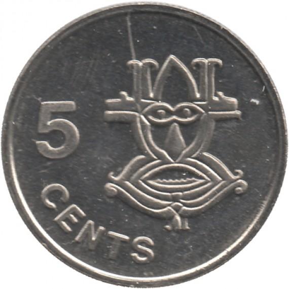 Moeda 5 cents - Ilha Salomão - 1996