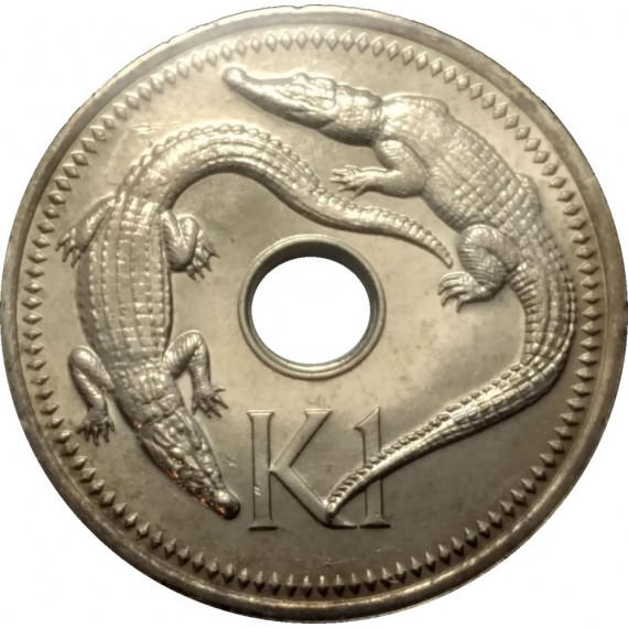 Moeda 1 kina - Papua Nova Guine - 1996