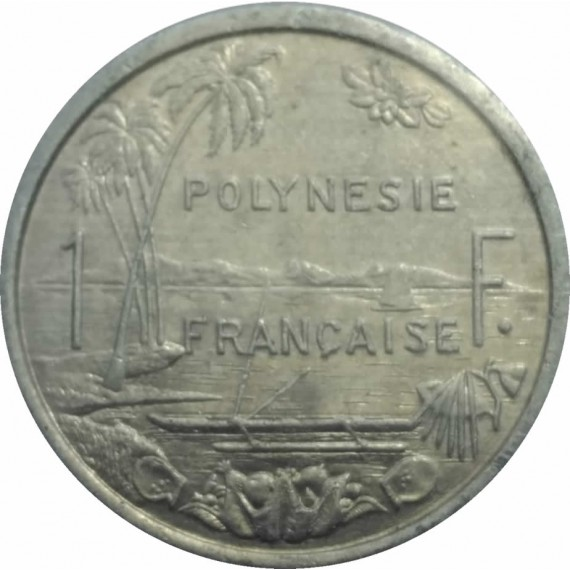 Moeda 1 Francos Polinesia Francesa 1983