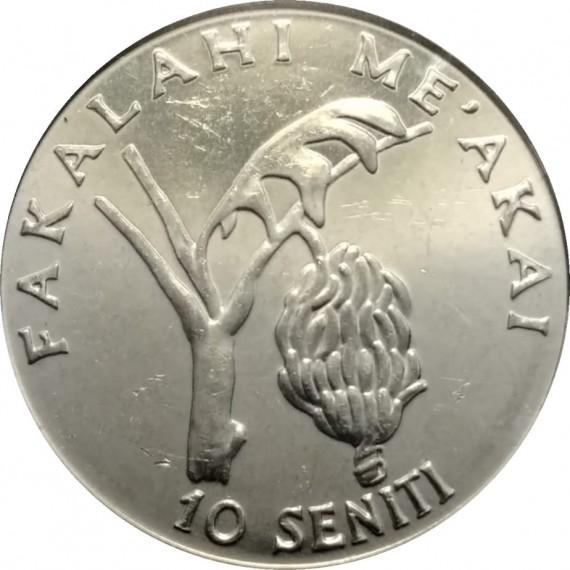 Moeda 10 seniti - Tonga - 2005
