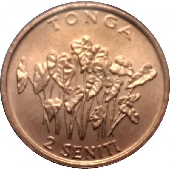 Moeda 2 seniti - Tonga - 1996