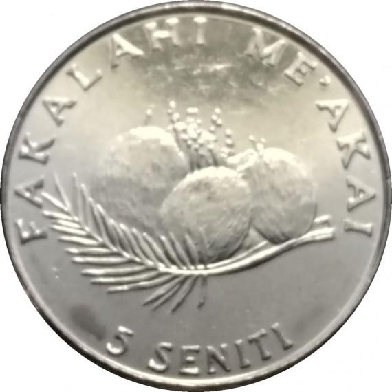 Moeda 5 seniti - Tonga - 2005