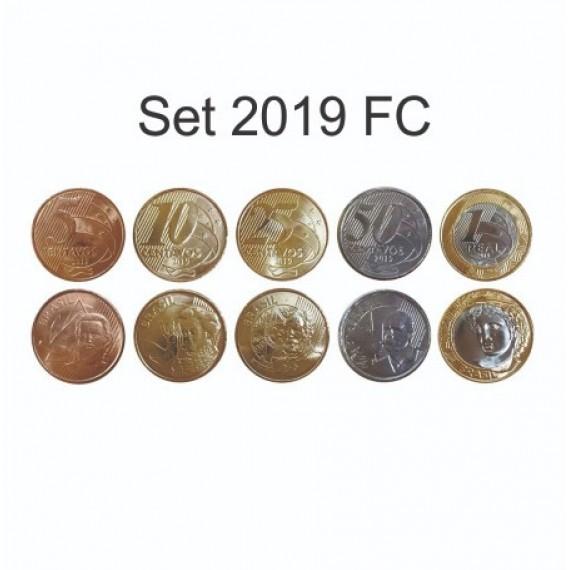 Set com as 5 moedas do Real 2019 FC