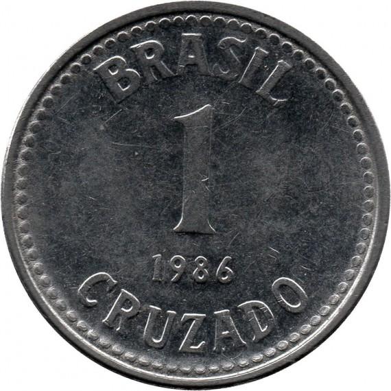 Moeda 1 cruzado - Brasil - 1986