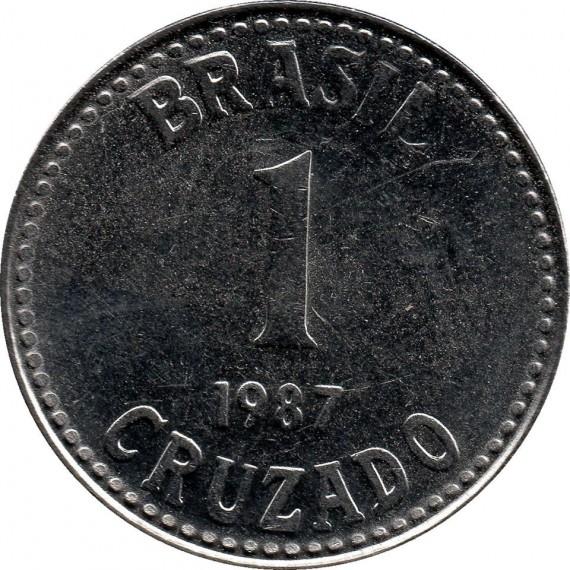 Moeda 1 cruzado - Brasil - 1987
