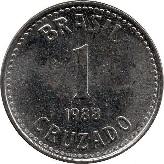 Moeda 1 cruzado - Brasil - 1988