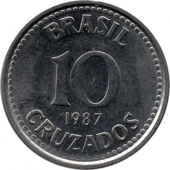 Moeda 10 cruzados - Brasil - 1987