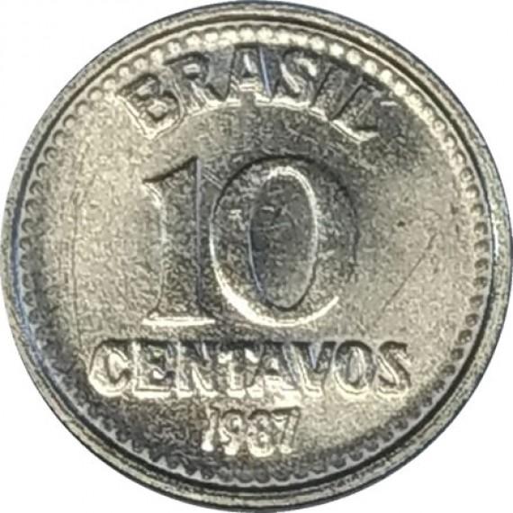 10 Centavos de Cruzado FC - Brasil - 1987 - REF:387