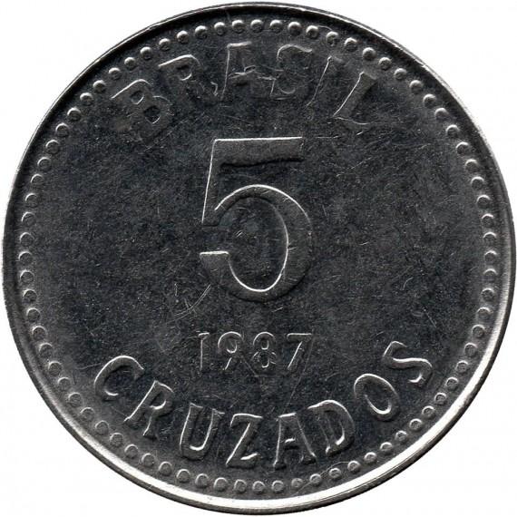 Moeda 5 cruzados - Brasil - 1987