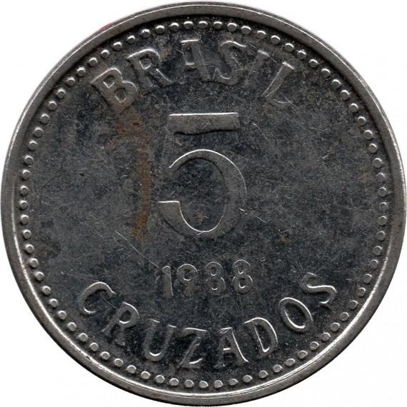 Moeda 5 cruzados - Brasil - 1988