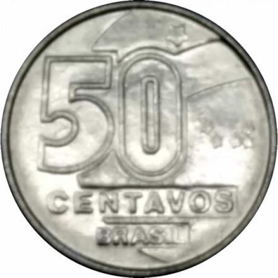 50 Centavos do Cruzado Novo FC - Brasil - 1990 - REF:411