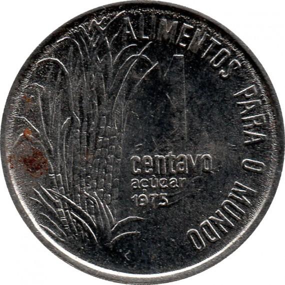 Moeda 1 centavo de cruzeiro - Brasil - 1975