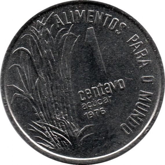 Moeda 1 centavo de cruzeiro - Brasil - 1976