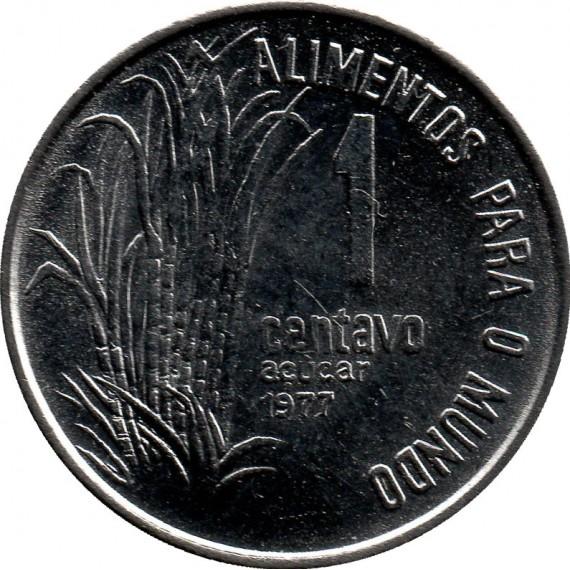 Moeda 1 centavo de cruzeiro - Brasil - 1977