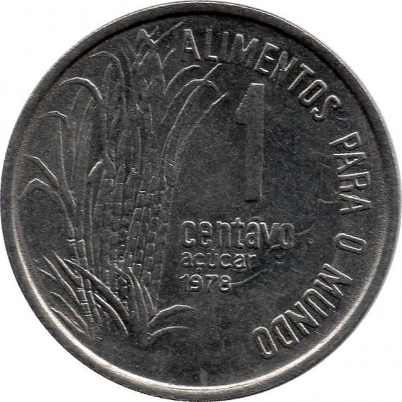 Moeda 1 centavo de cruzeiro - Brasil - 1978