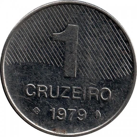 Moeda 1 cruzeiro - Brasil - 1979