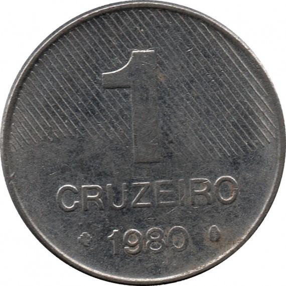 Moeda 1 cruzeiro - Brasil - 1980