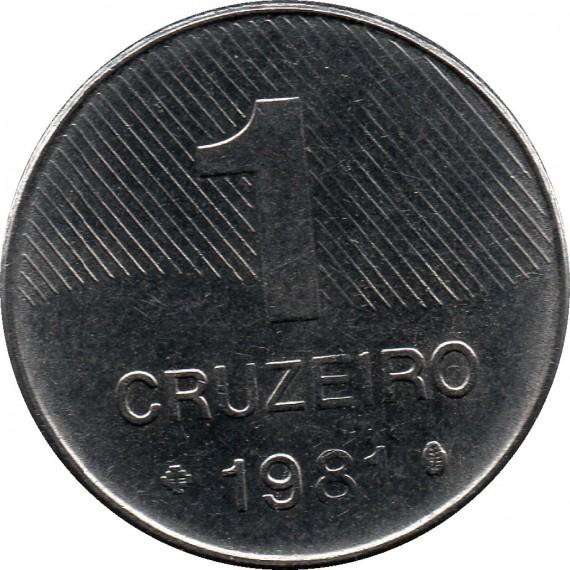 Moeda 1 cruzeiro - Brasil - 1981
