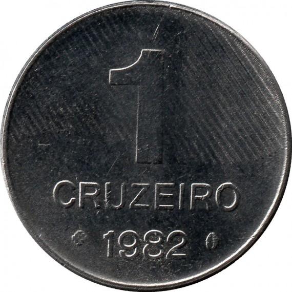 Moeda 1 cruzeiro - Brasil - 1982