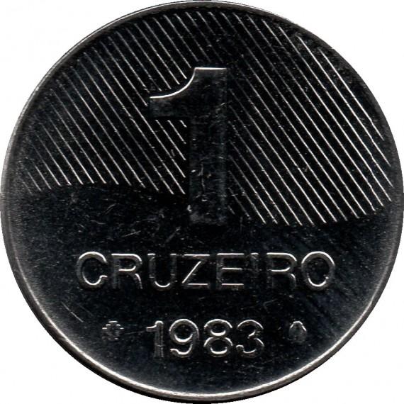 Moeda 1 cruzeiro - Brasil - 1983