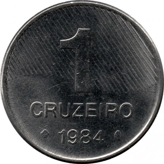 Moeda 1 cruzeiro - Brasil - 1984