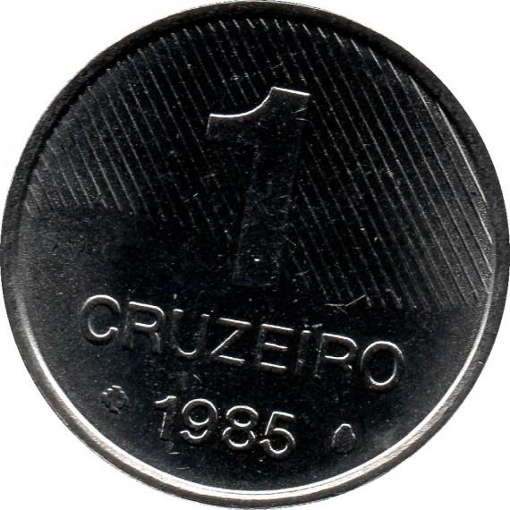 Moeda 1 cruzeiro - Brasil - 1985 FAO