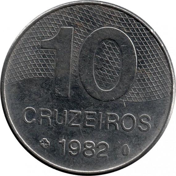 Moeda 10 cruzeiros - Brasil - 1982