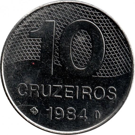 Moeda 10 cruzeiros - Brasil - 1984