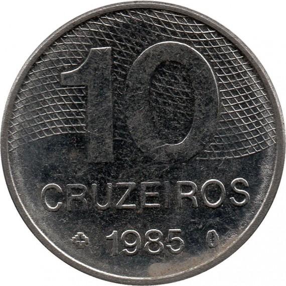 Moeda 10 cruzeiros - Brasil - 1985