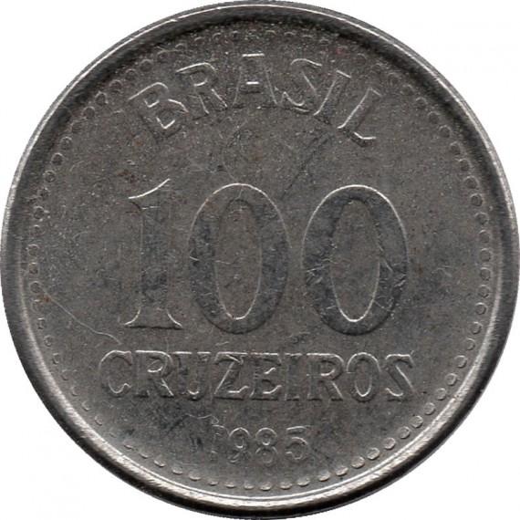 Moeda 100 cruzeiros - Brasil - 1985