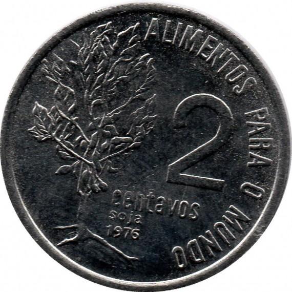 Moeda 2 centavos de cruzeiro - Brasil - 1976