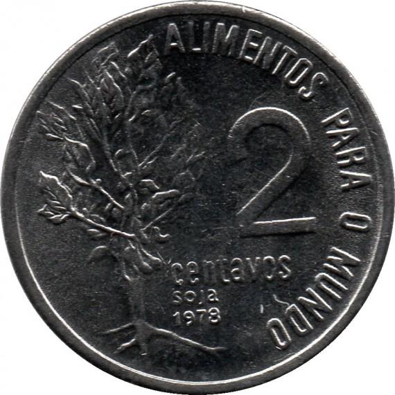 Moeda 2 centavos de cruzeiro - Brasil - 1978