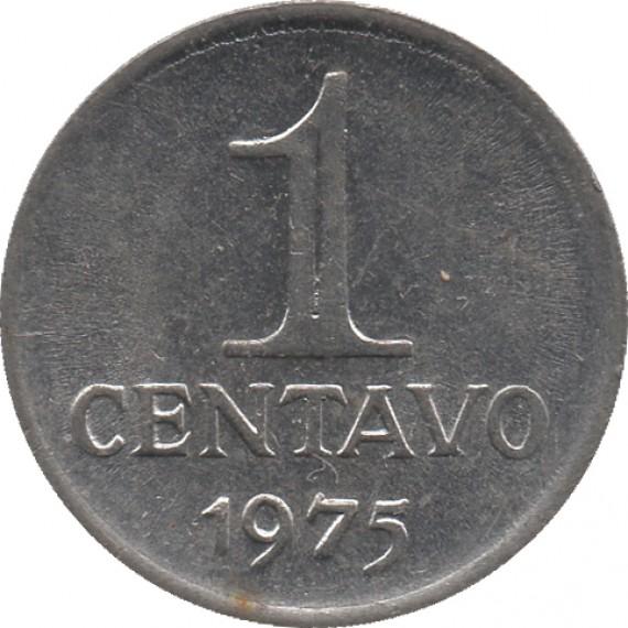 Moeda 1 centavo de cruzeiro - Brasil - 1975 - REF 289