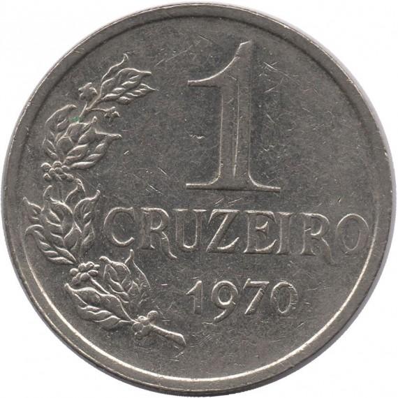 Moeda 1 cruzeiro - Brasil - 1970 - REF 318