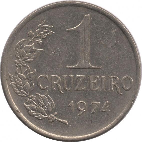 Moeda 1 cruzeiro - Brasil - 1974 - REF 319