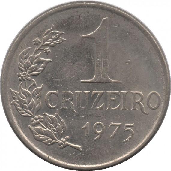 Moeda 1 cruzeiro - Brasil - 1975 - REF 320