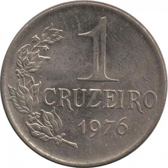 Moeda 1 cruzeiro - Brasil - 1976 - REF 321