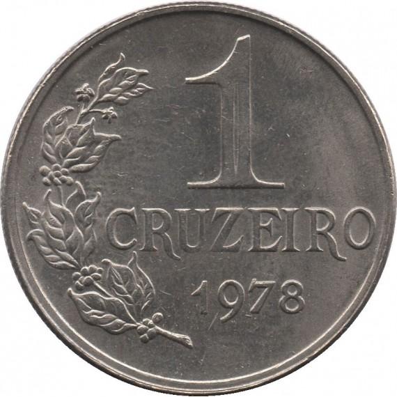 Moeda 1 cruzeiro - Brasil - 1978 - REF 323