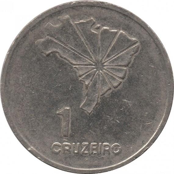 Moeda 1 cruzeiro - Brasil - 1972 - REF 324