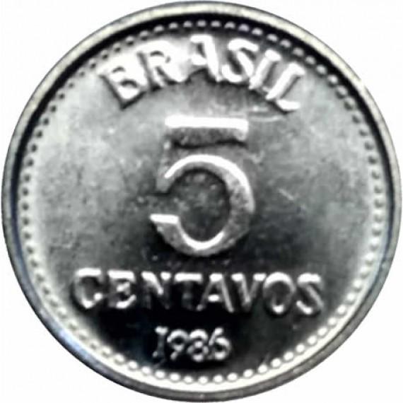5 Centavos de Cruzado FC - Brasil - 1986 - REF:383